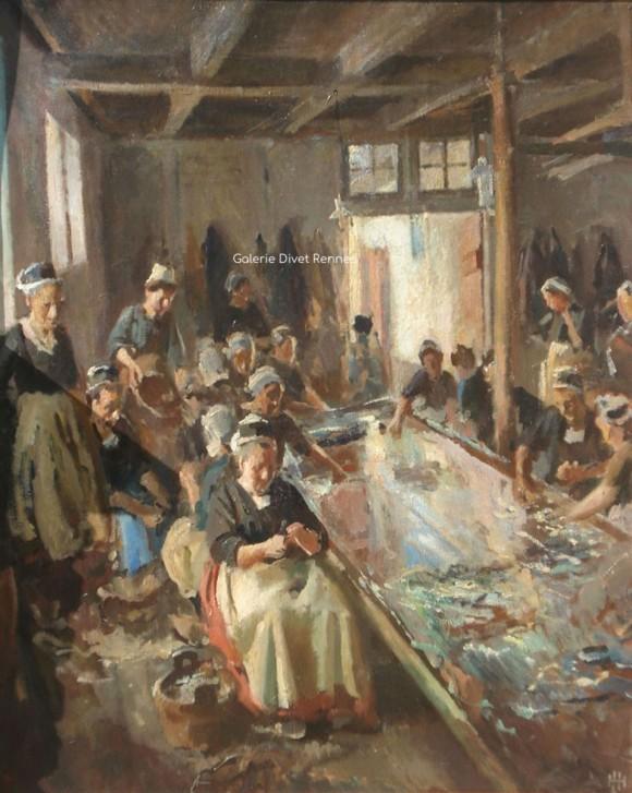 Conserverie de poissons, Concarneau 1910