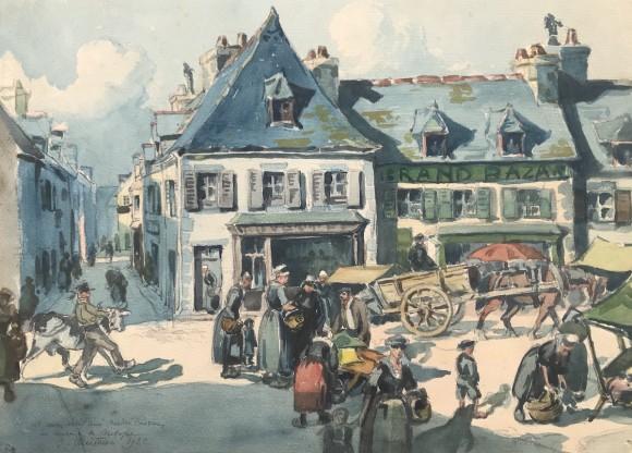 Le marché en Bretagne