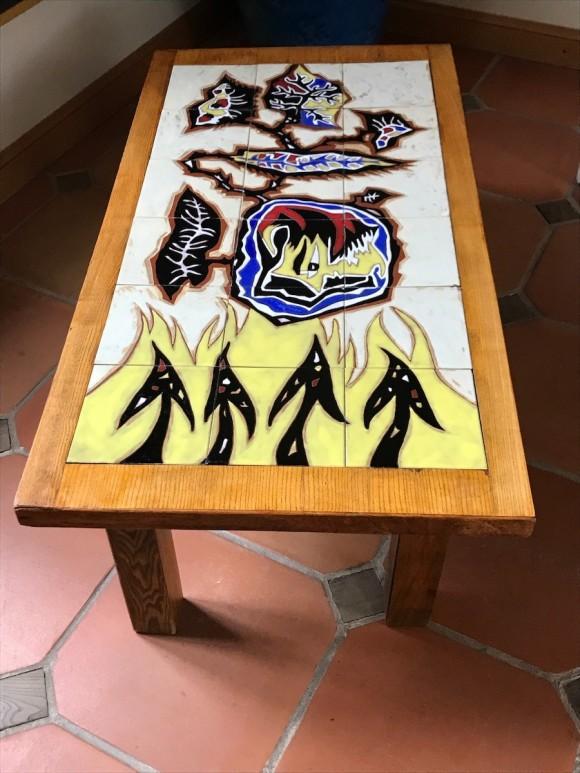 Rare table basse à décors de carreaux de céramique de Jean Lurçat pour Sant vicens