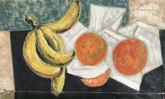 Nature morte bananes et oranges